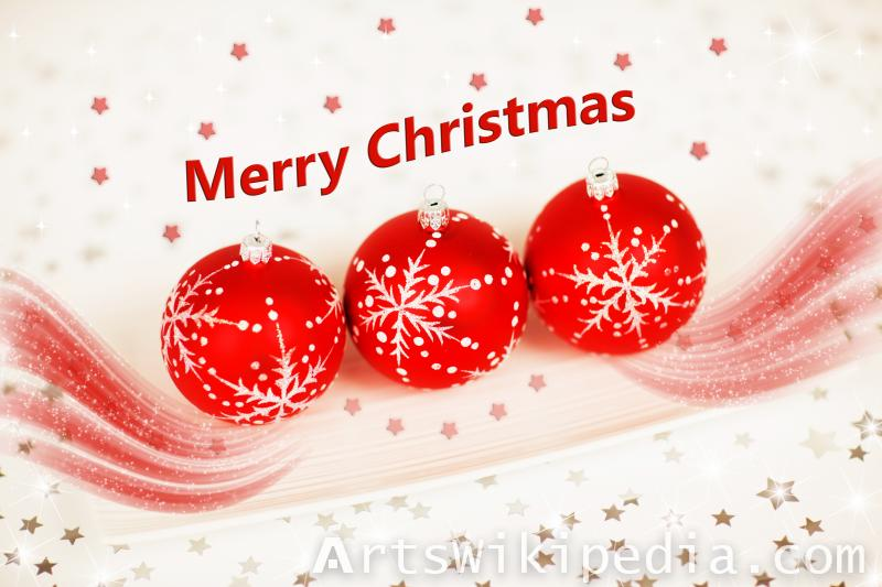 christmas red  balls image