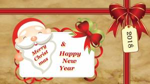 merry christmas & happy new year card wallpaper