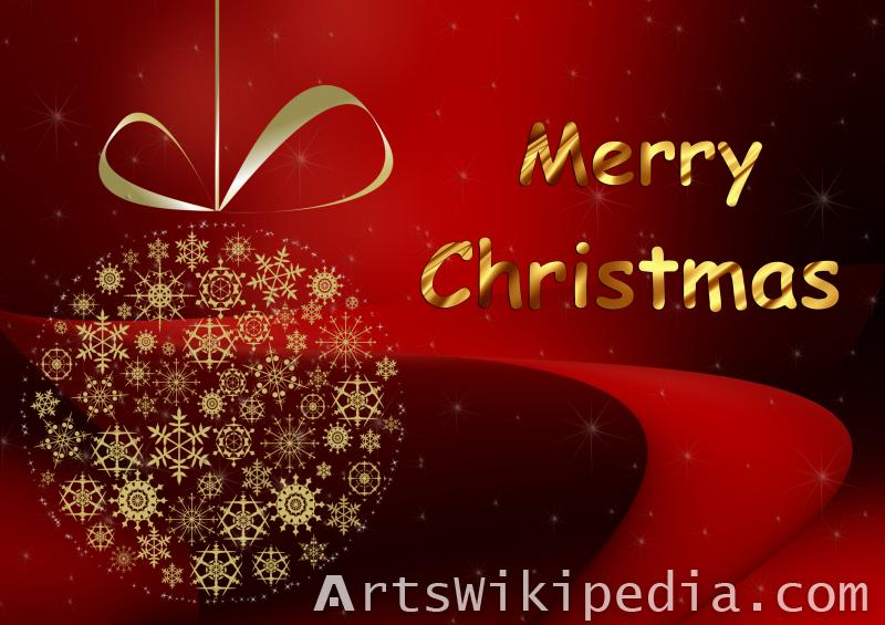 christmas decoration gold and red wallpaper