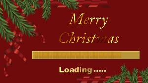 merry christmas loading wallpaper