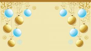gold and blue christmas card image