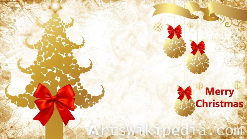 christmas Bubbles tree gold image