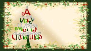 A very merry christmas card wallpaper