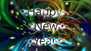 happy new year multi-colors image