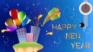 happy new year holiday wallpaper