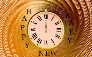 happy new year 12 clock wallpaper
