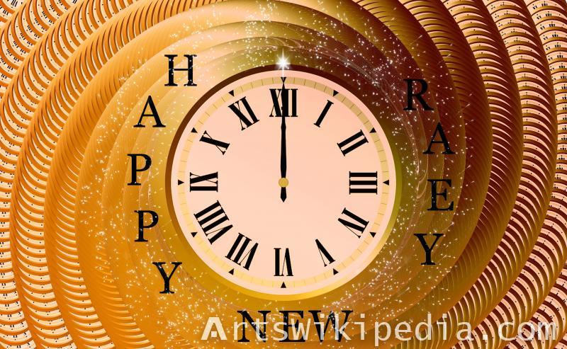 happy new year 12 clock wallpaper