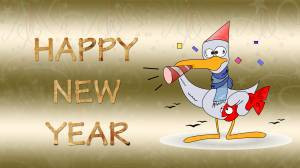 happy new year funny wallpaper