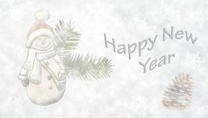 happy new year snowman wallpaper