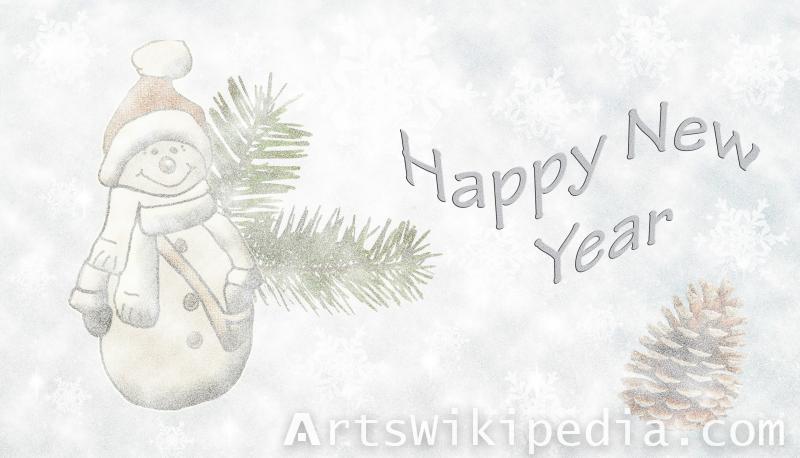 happy new year snowman wallpaper