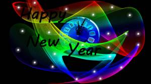 happy new year 12 clock picture