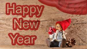 wood happy new year image