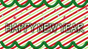happy new year red & green wallpaper