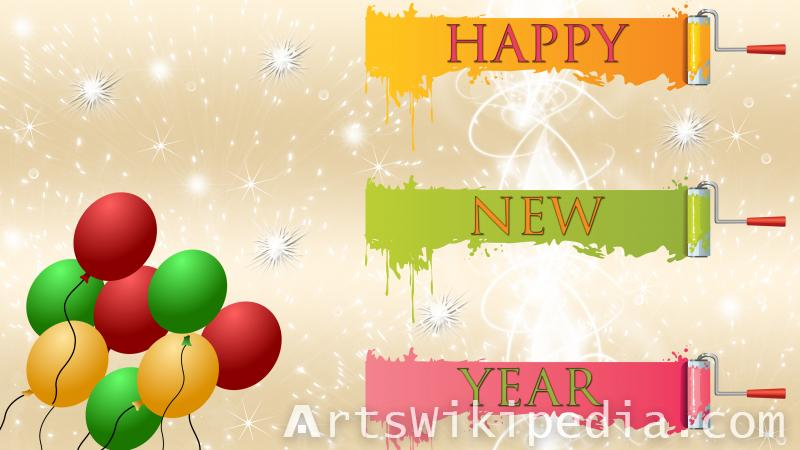 happy new year colors wallpaper