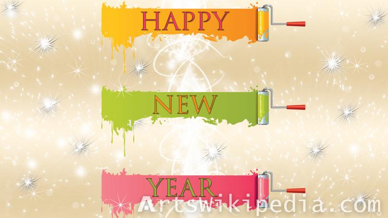 happy new year paint image