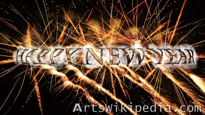 fireworks happy new year wallpaper