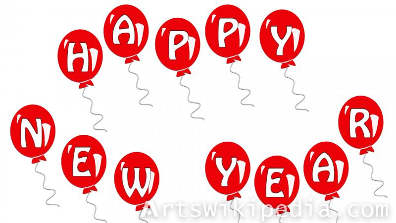 happy new year balloons picture