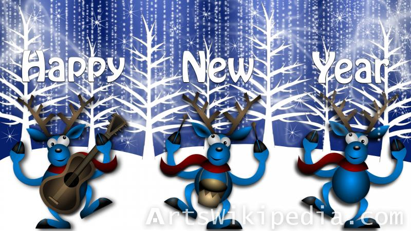 happy new year reindeer image