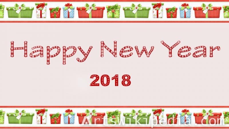 happy new year 2018 glossy image