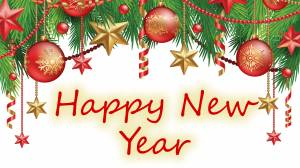 happy new year decoration card picture