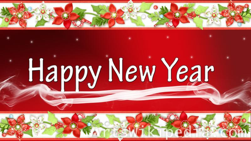 happy new year flower decoration wallpaper