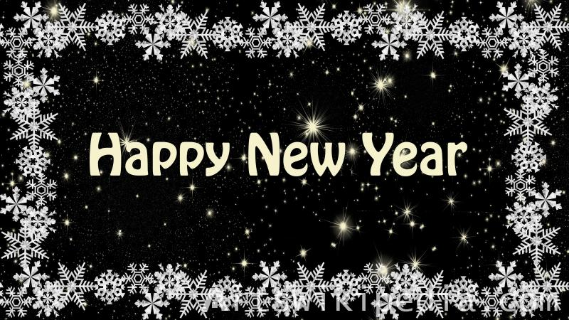 happy new year snowflake frame image