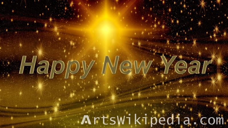 happy new year glitter image