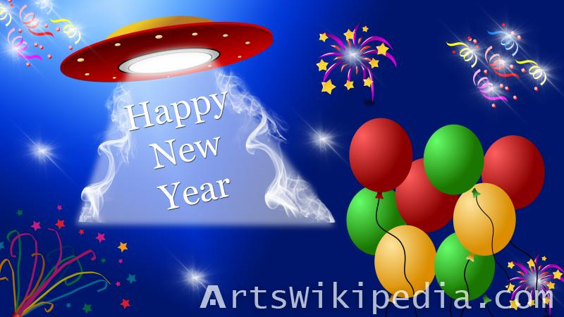 happy new year cartoon image