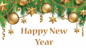 happy new year decoration gold wallpaper