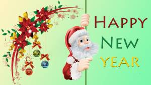 santa claus happy new year wallpaper