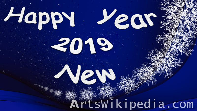 happy new year blue & white 2019 picture