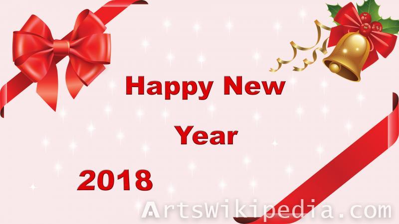 2018 new year card wallpaper