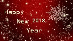 happy new year 2018 red glossy image