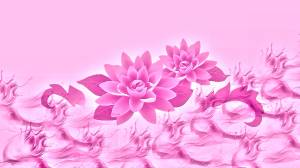 pink flower and wave wallpaper