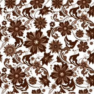 pattern-flowers-brown-pictue