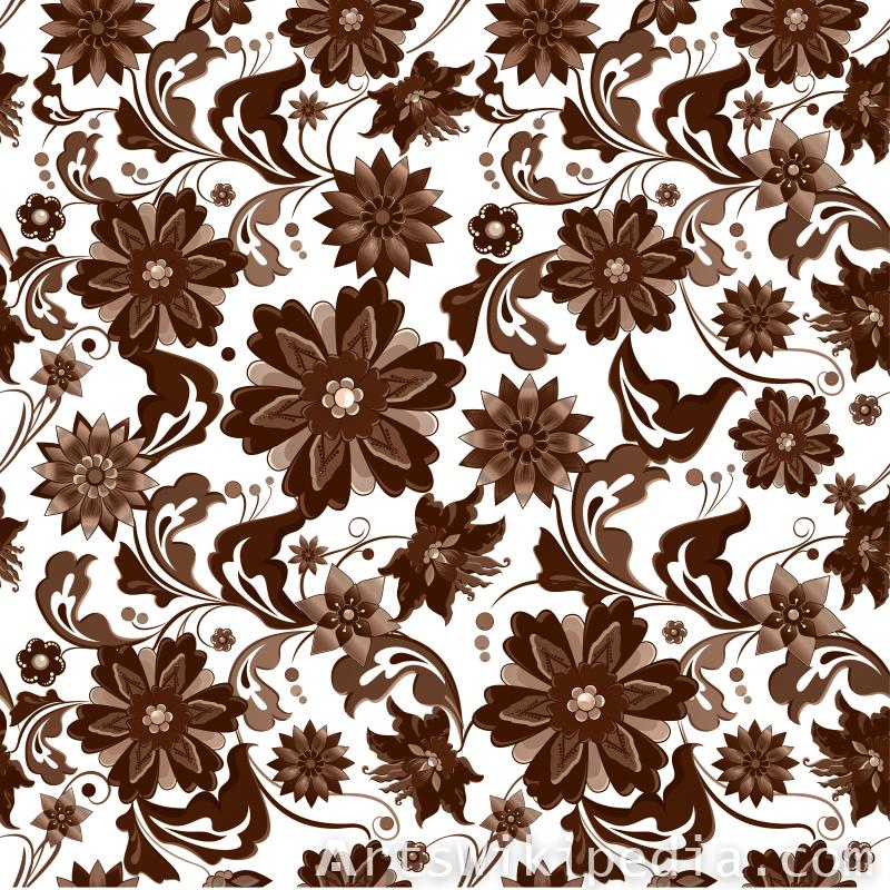 pattern flowers brown pictue