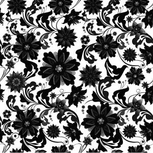 pattern-flowers-black-and-white-image