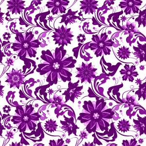 pattern-flowers-purple-and-white-image