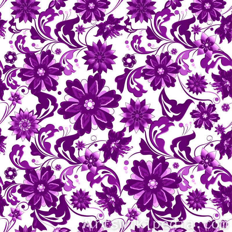 pattern flowers purple and white image