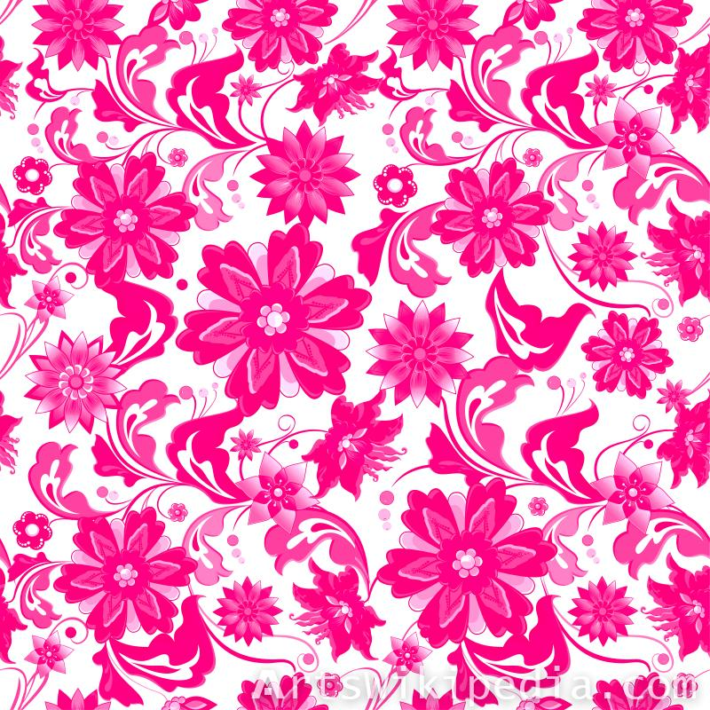 pattern pink and white flowers image