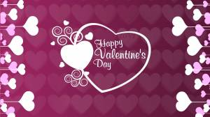 happy valentine's day purple wallpaper