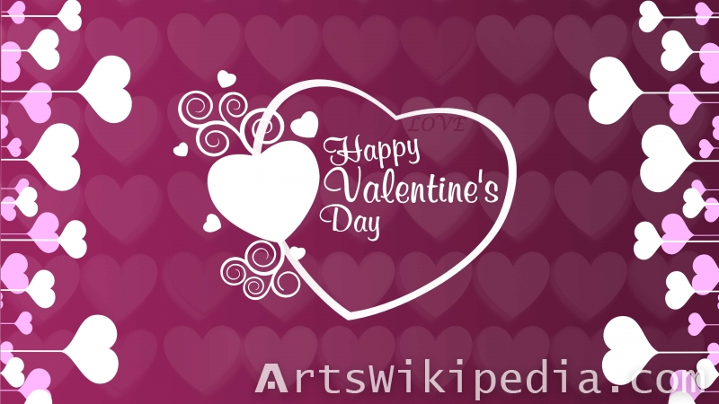 happy valentine's day purple wallpaper