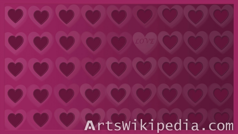purple hearts for valentine's day wallpaper