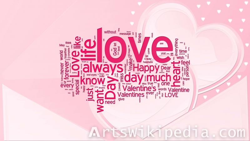 valentine's day word pink image