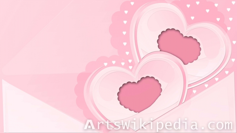 pink cute hearts wallpaper for valentin's