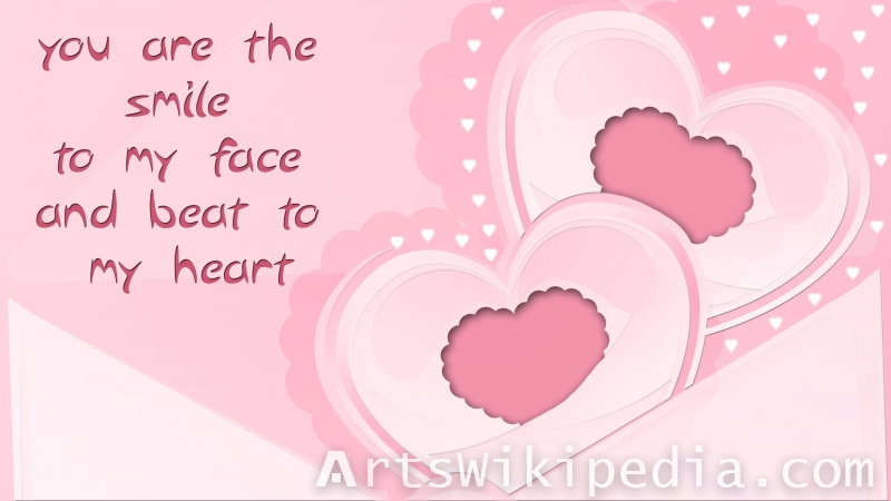 love quotes for valentine's day pink picture