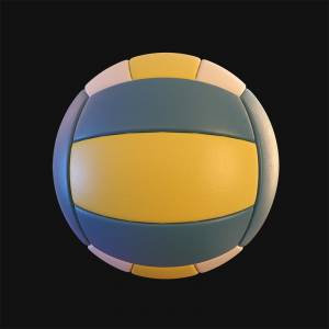 blue-and-yellow-volleyball-clipart