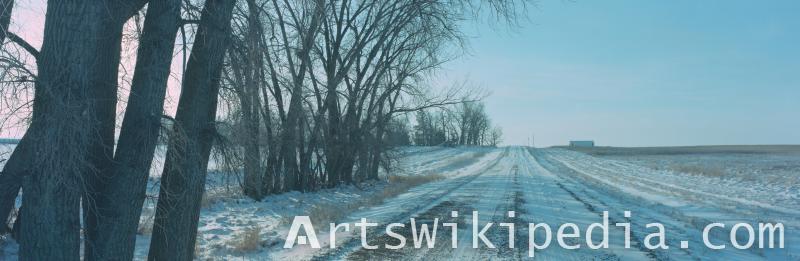 street in winter image