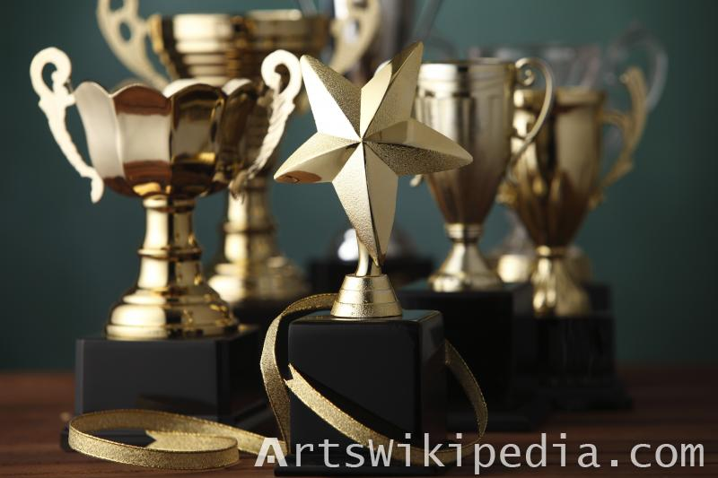 DOF for Collection of golden award cups