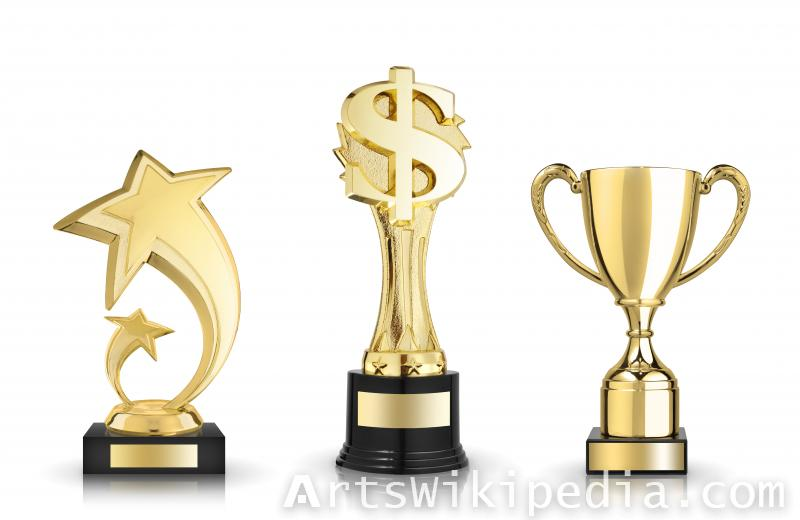 different type of golden Trophies